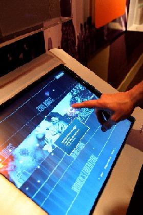 RichardLawExhibitInteractiveTouchScreen